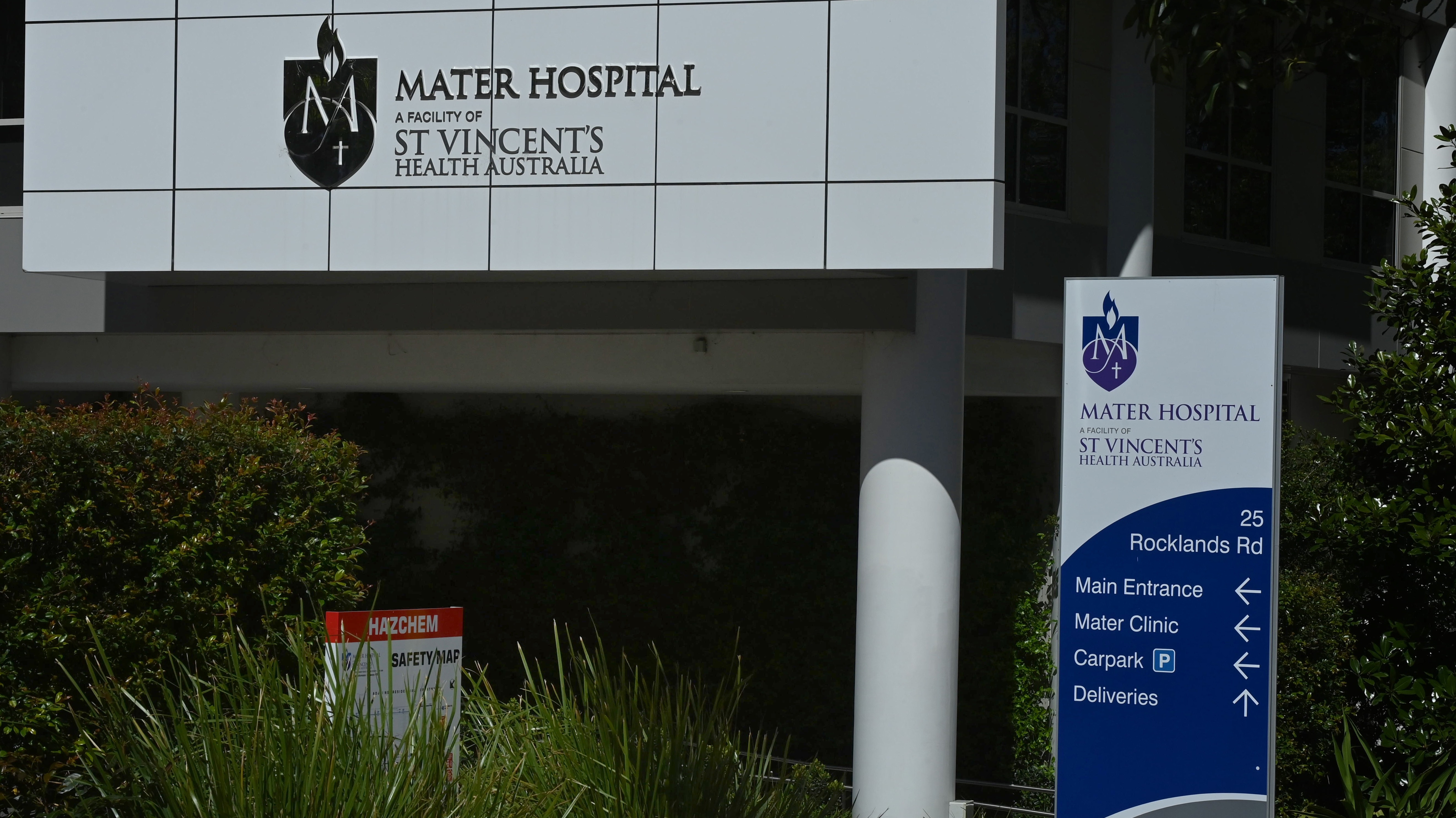The Mater Hospital on Sydney's North Shore.