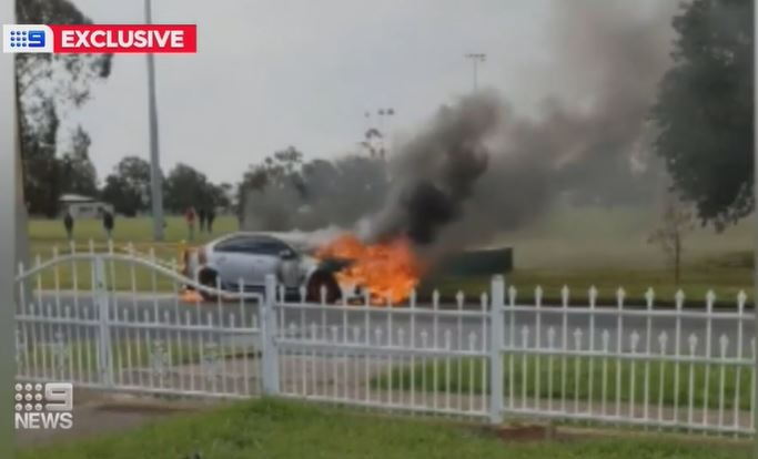 A young car fire victim says he feared he was about to be set alight or stabbed as he chased down an alleged arsonist and staged a citizen's arrest in Adelaide's northern suburbs.
