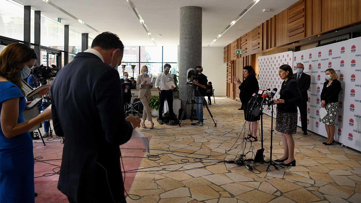NSW Premier Gladys Berejiklian has held a regular press conference every day at 11am.