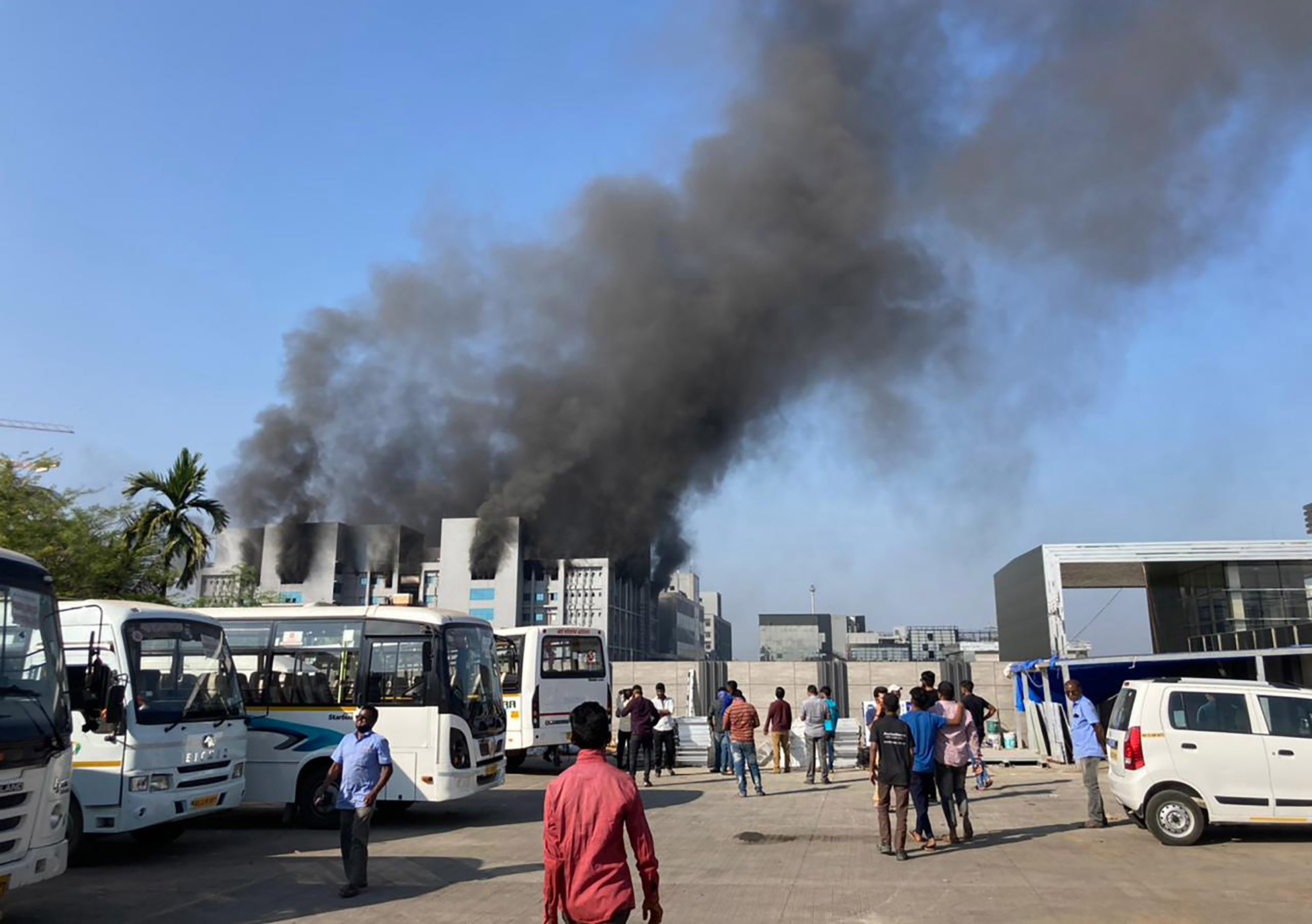 Fire hits building at world's largest vaccine maker in India