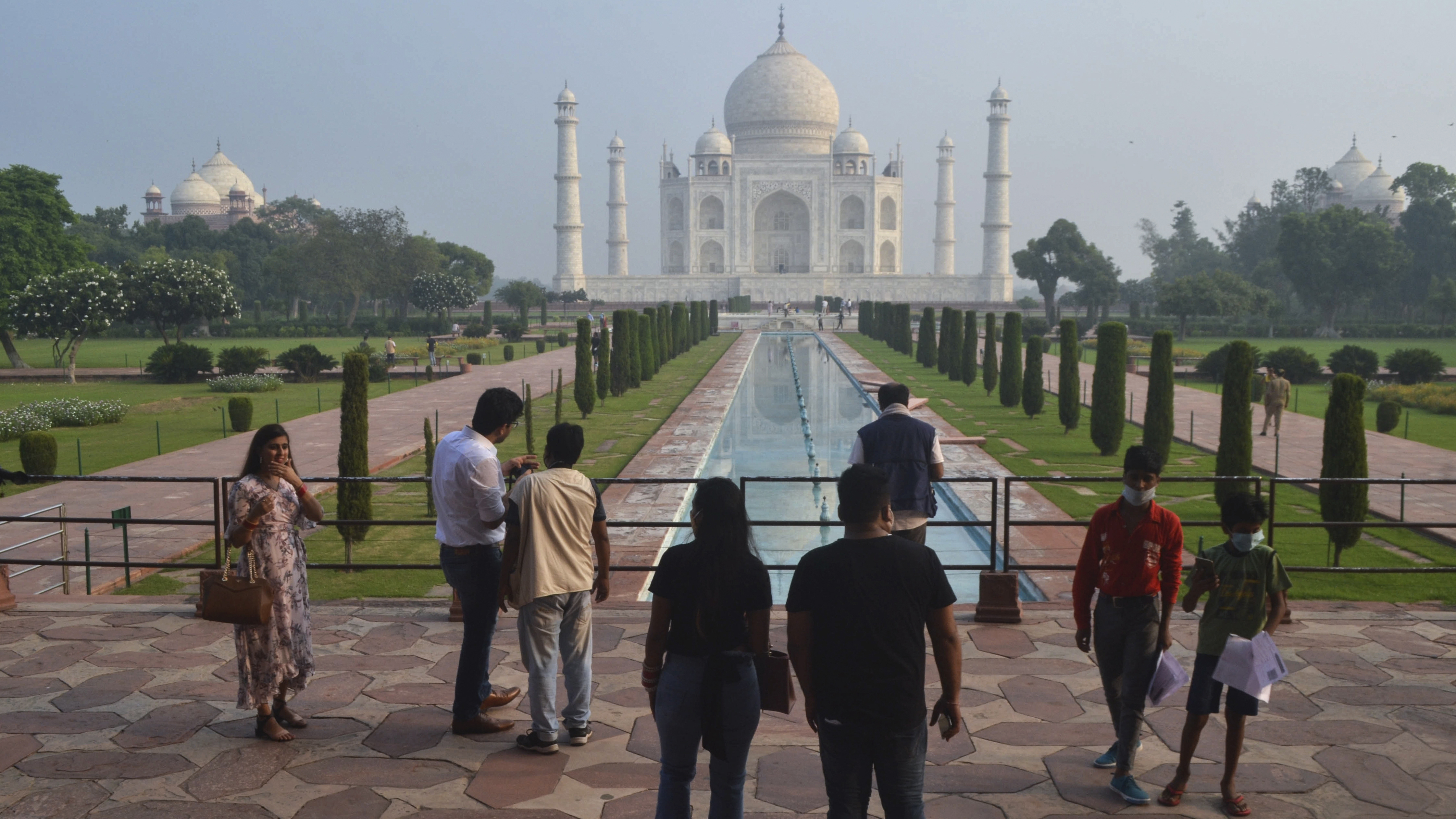 The Taj Mahal has reopened after being closed for more than six months due to the coronavirus pandemic in Agra, India.