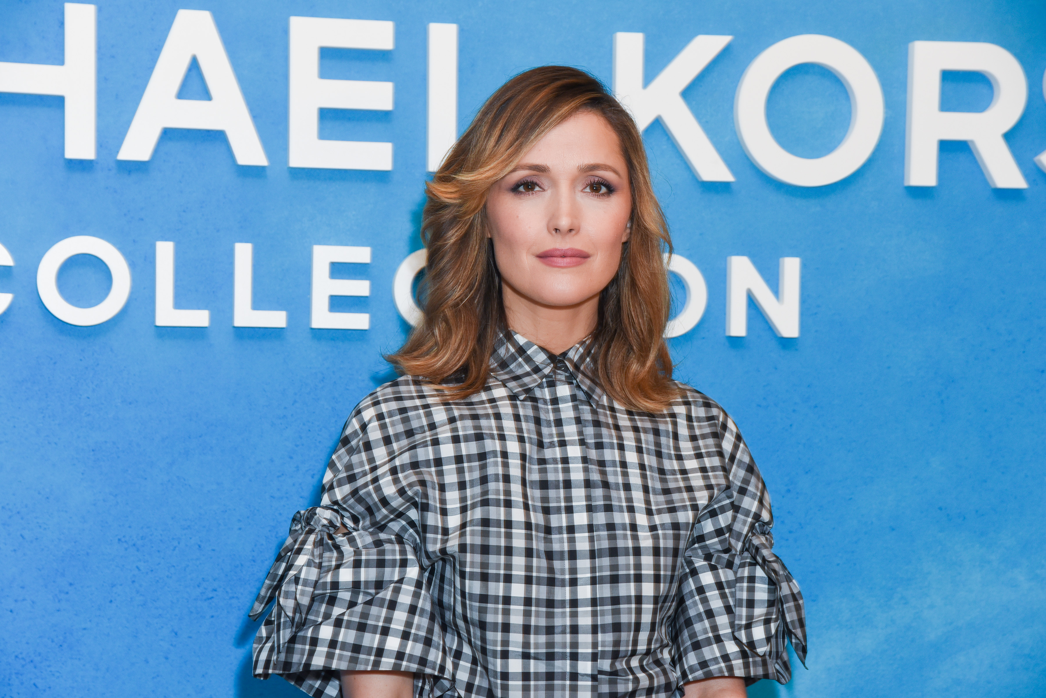 Rose Byrne attends Michael Kors Collection Spring 2019 Runway Show at Pier 17 on September 12, 2018 in New York City.