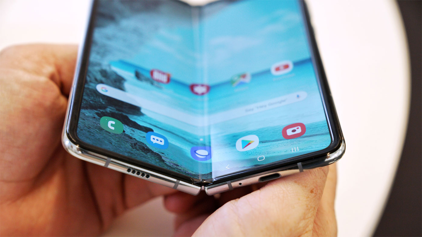 Hands on with Samsung's folding phone