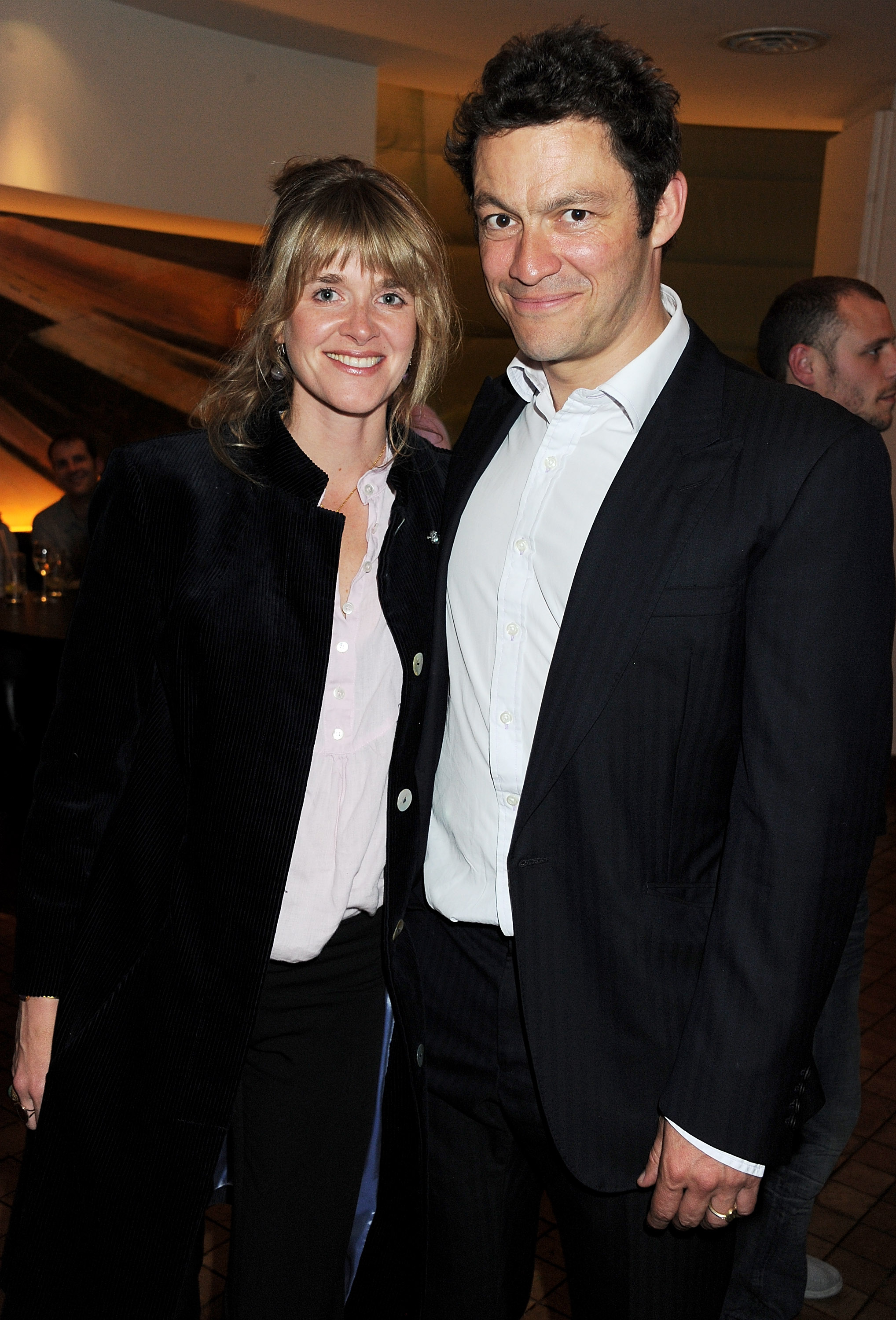 Catherine FitzGerald and Dominic West attends an after party following press night of the new West End production of Simon Gray's Butley at Axis at One Aldwych on June 6, 2011 in London, England.