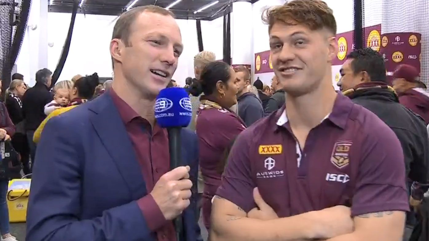 Lockyer interviews Ponga post-game