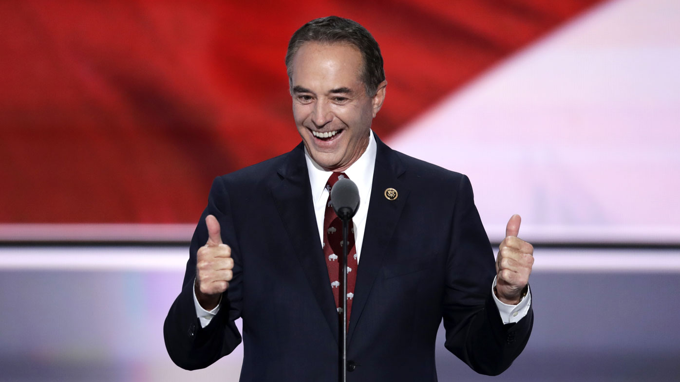 Chris Collins nominating Donald Trump as the Republican nominee for president in 2016.