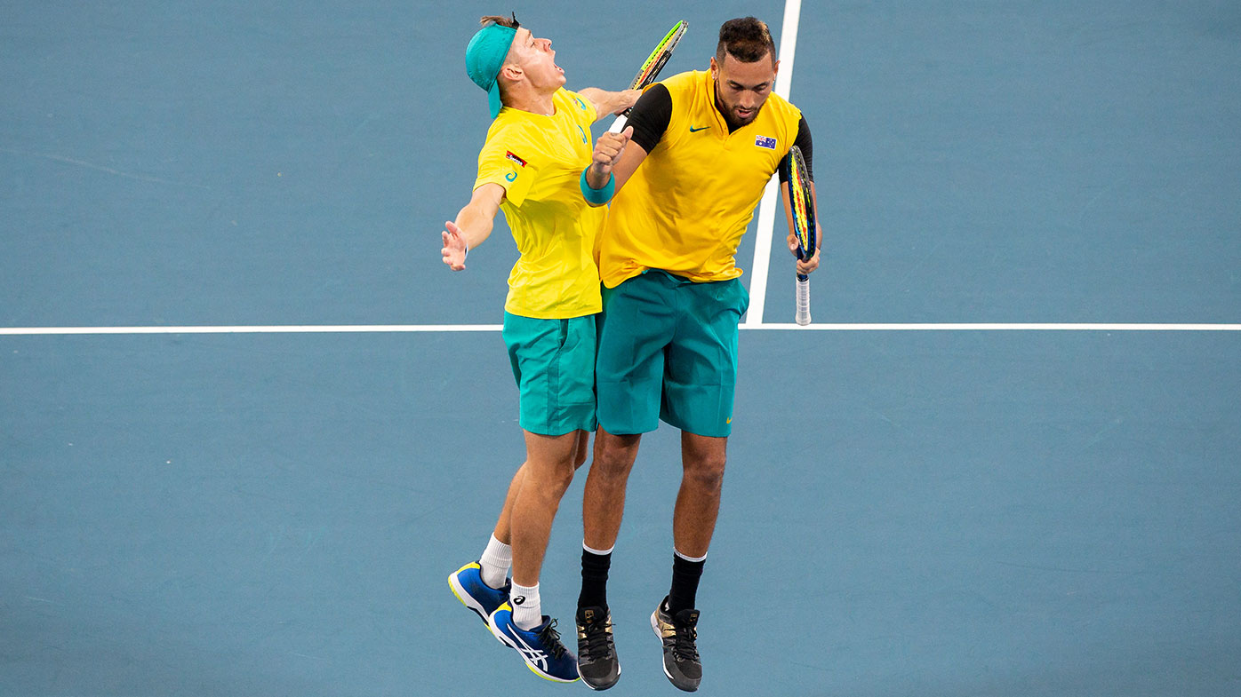 Dan Evans' win ensures a doubles decider in Britain-Australia quarterfinal