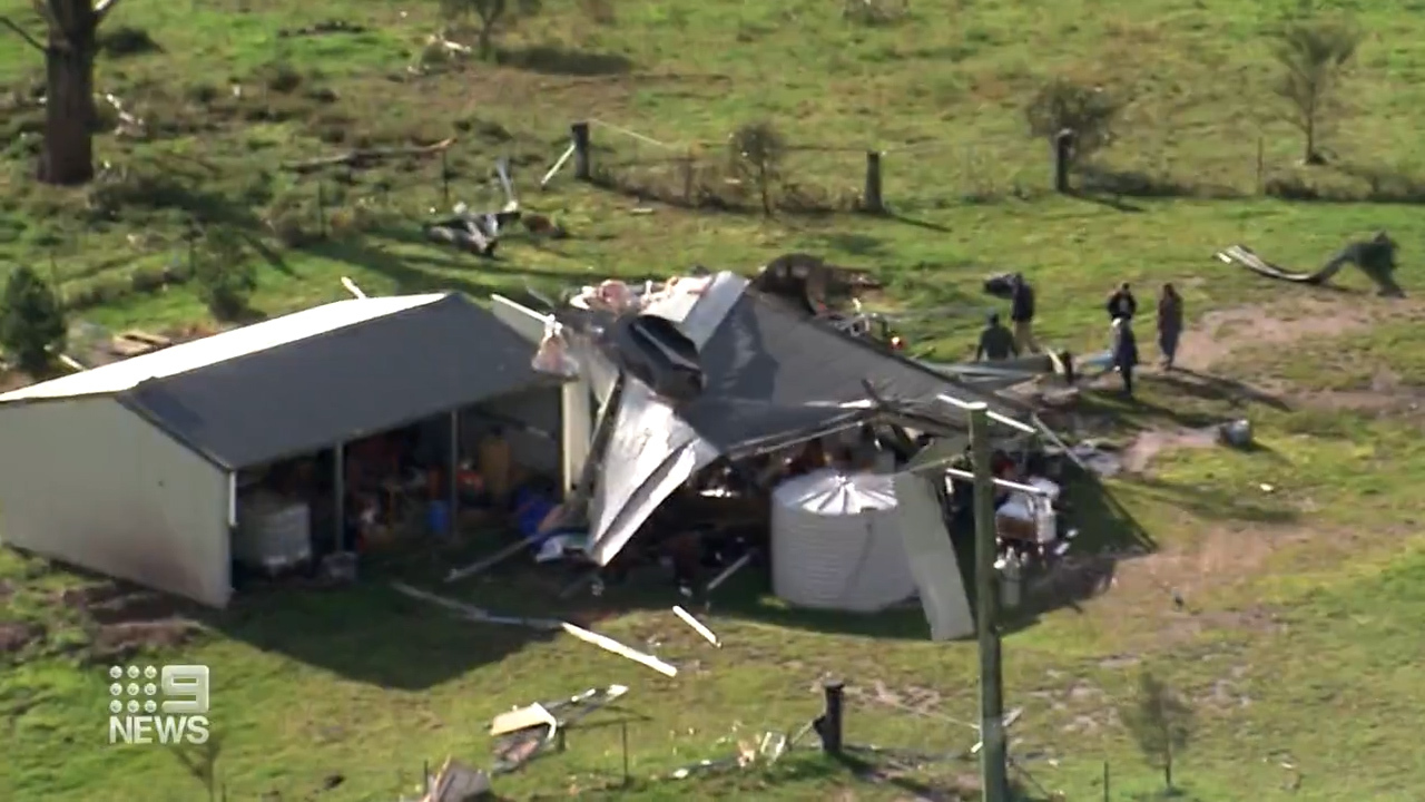 The twister left a trail of destruction across Central West NSW, smashing homes.