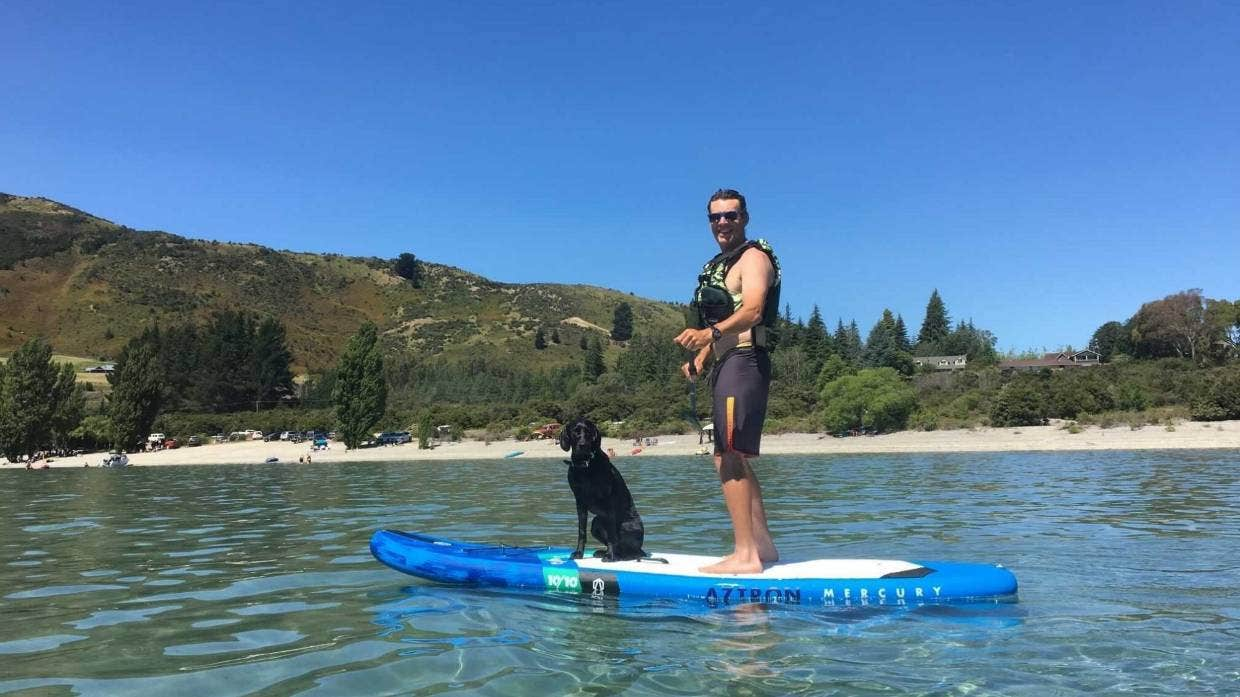 Carl Gerrard lost his phone in February while floating down the Clutha River with his family.