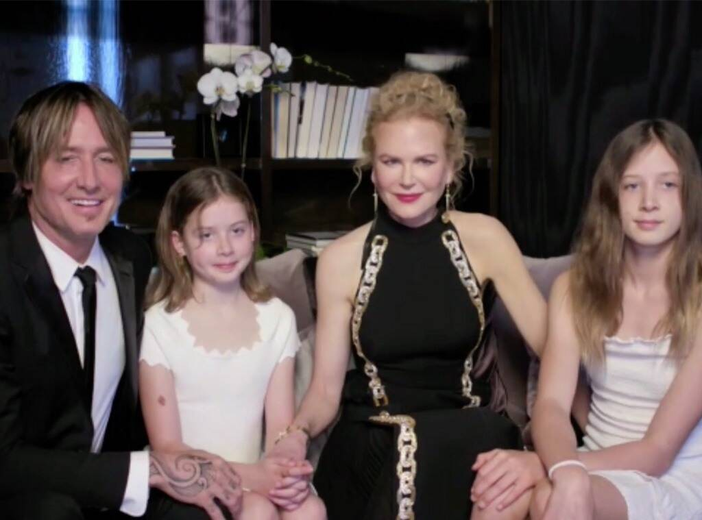 Nicole Kidman, Keith Urban and their daughter's Faith and Sunday.
