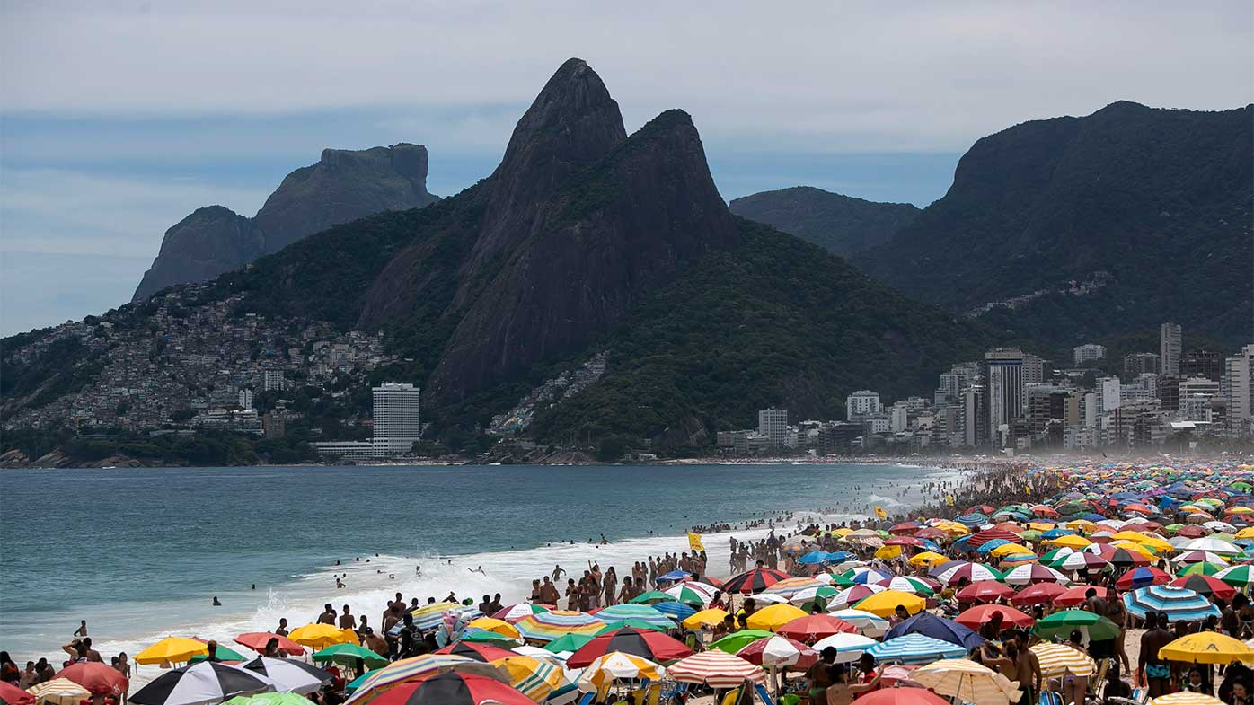A dangerous new strain of coronavirus is not keeping Brazilians away from the iconic Ipanema Beach.