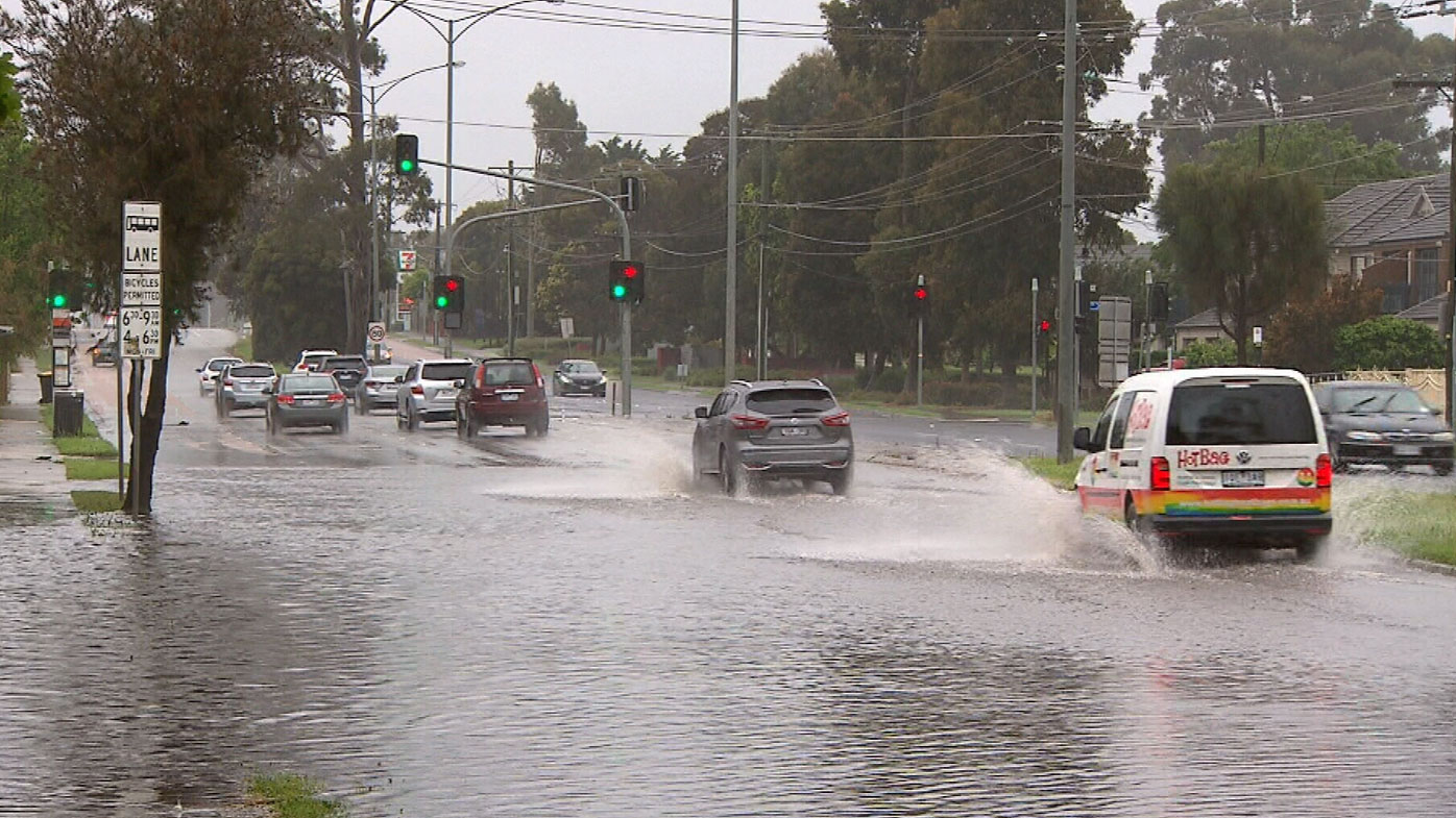 Melbourne has copped a drenching overnight, with the city receiving the biggest October downpour in ten years