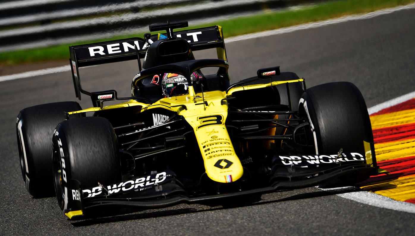 Daniel Ricciardo on his way to fourth place in the Belgian Grand Prix.