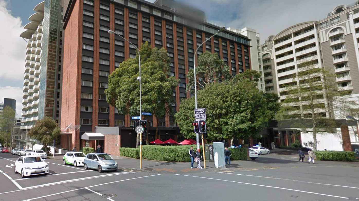 The Pullman hotel in Auckland, New Zealand, where the woman completed 14-days of quarantine and tested negative twice before going out into the community.