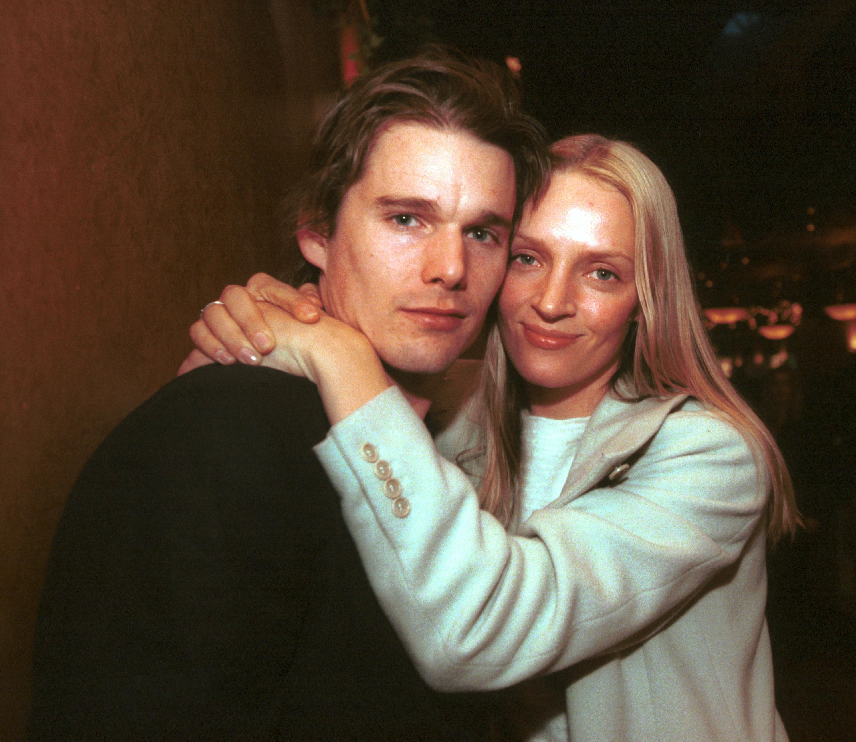 Ethan Hawke and Uma Thurman at the 2000 Sundance Film Festival in Park City, Utah