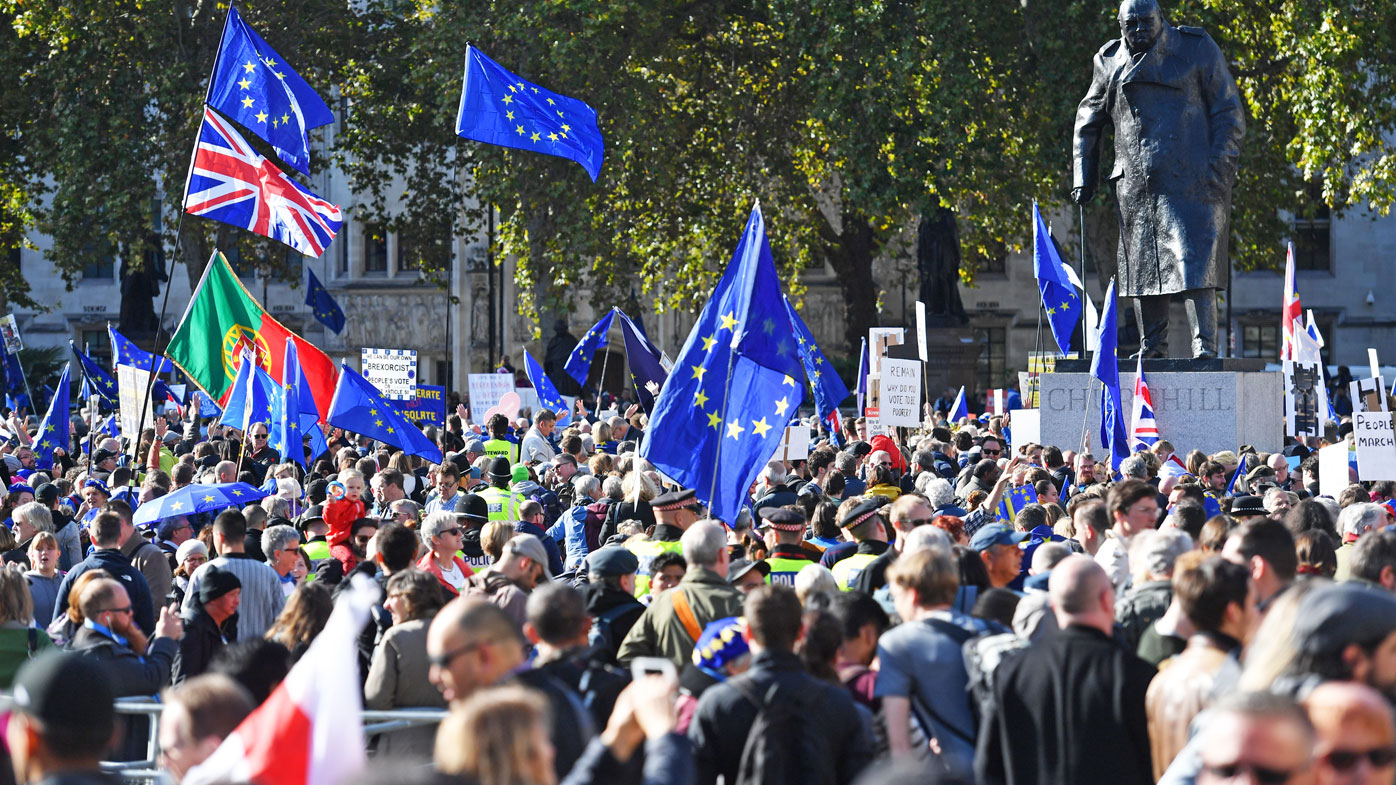 Brexit protesters swamp London streets