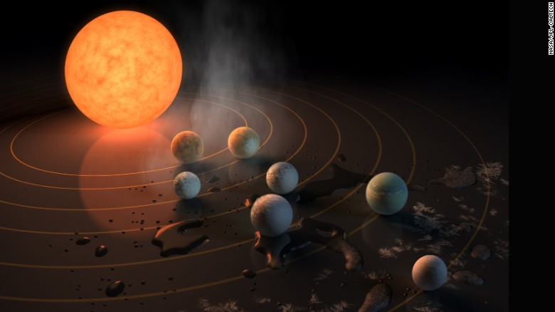 Artist's impression shows a view of the surface of the planet Proxima b.
