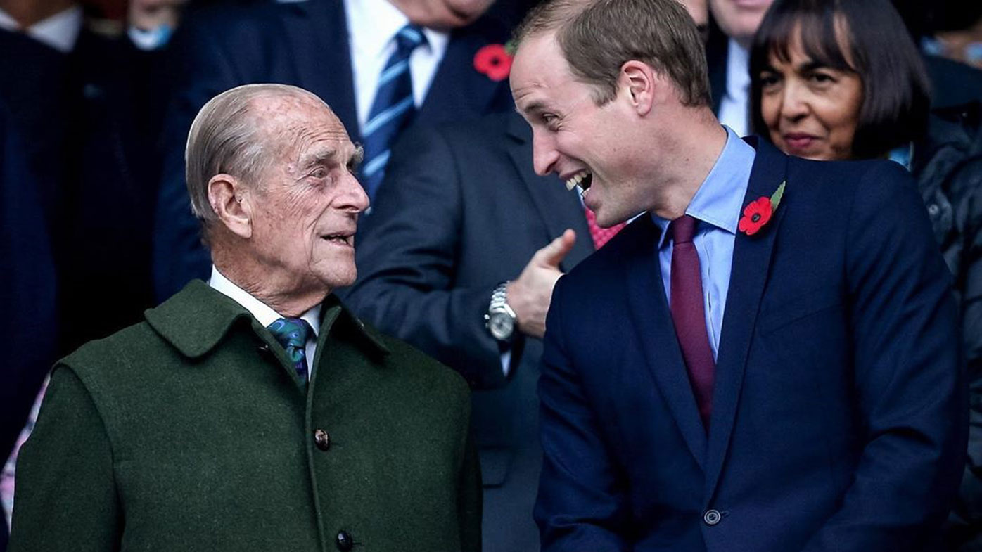Prince Philip and Prince William share a laugh