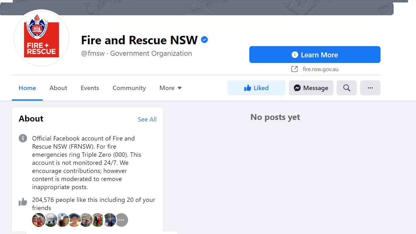 Government news sites are being affected by the Facebook news ban.