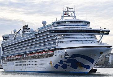 Ruby Princess departing Port Kembla (AAP)