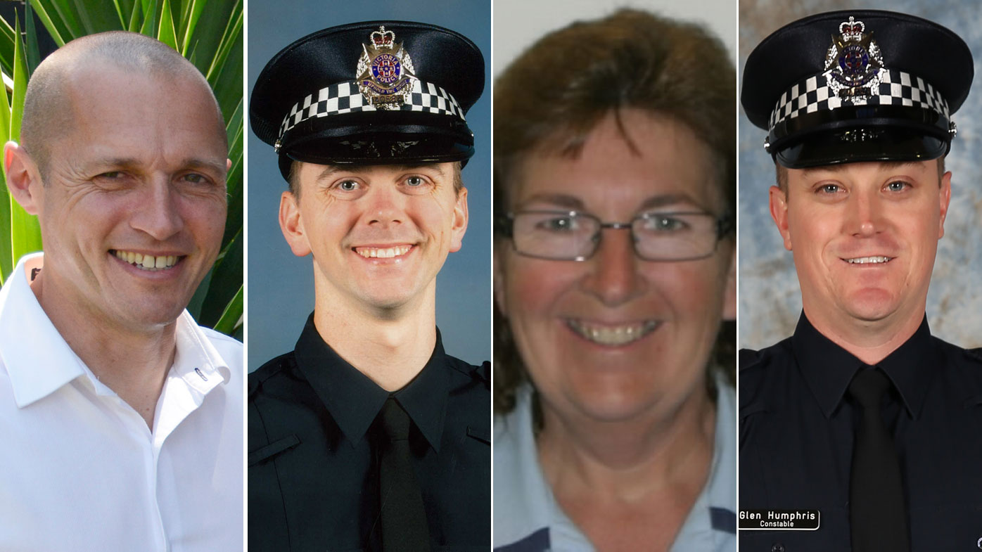Kevin King, Joshua Prestney, Lynette Taylor and Glen Humphris were all killed in the line of duty.