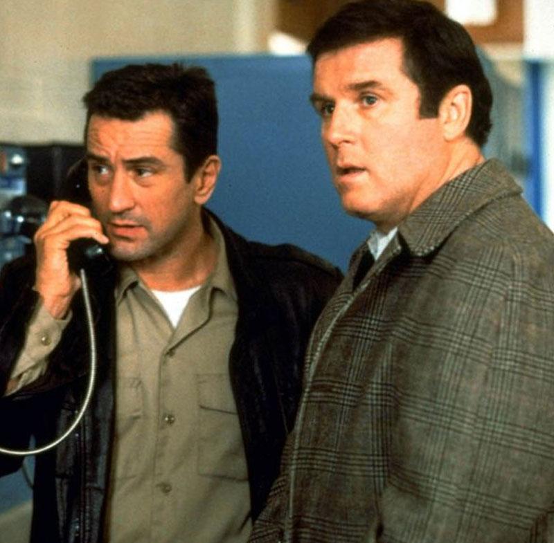 Charles Grodin (right) starred in the 1988 hit Midnight Run, alongside Robert De Niro (left)