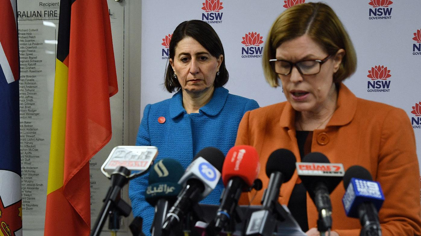 NSW Premier Gladys Berejiklian and Dr Kerry Chant today.