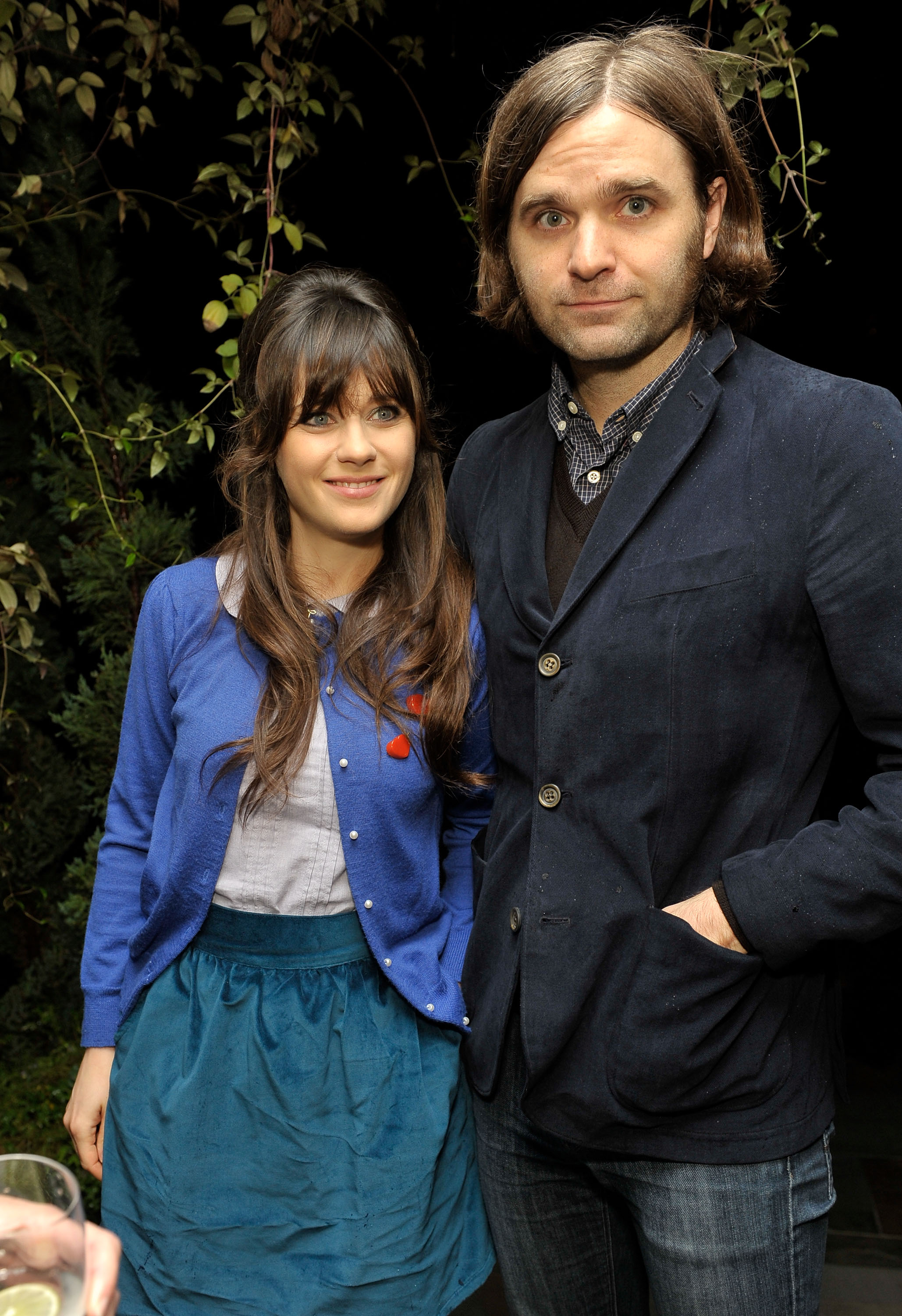 Zooey Deschanel and Ben Gibbard on December 12, 2009 in Los Angeles, California.
