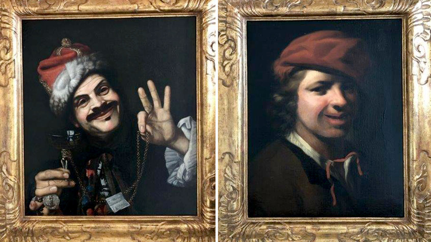 Police say 17th century paintings found in highway dumpster