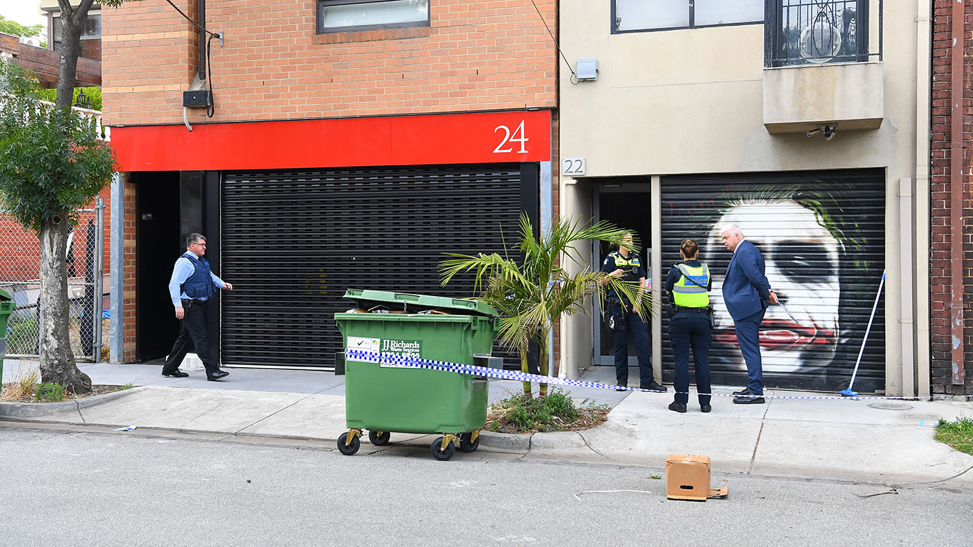 A Port Melbourne property raided this morning.