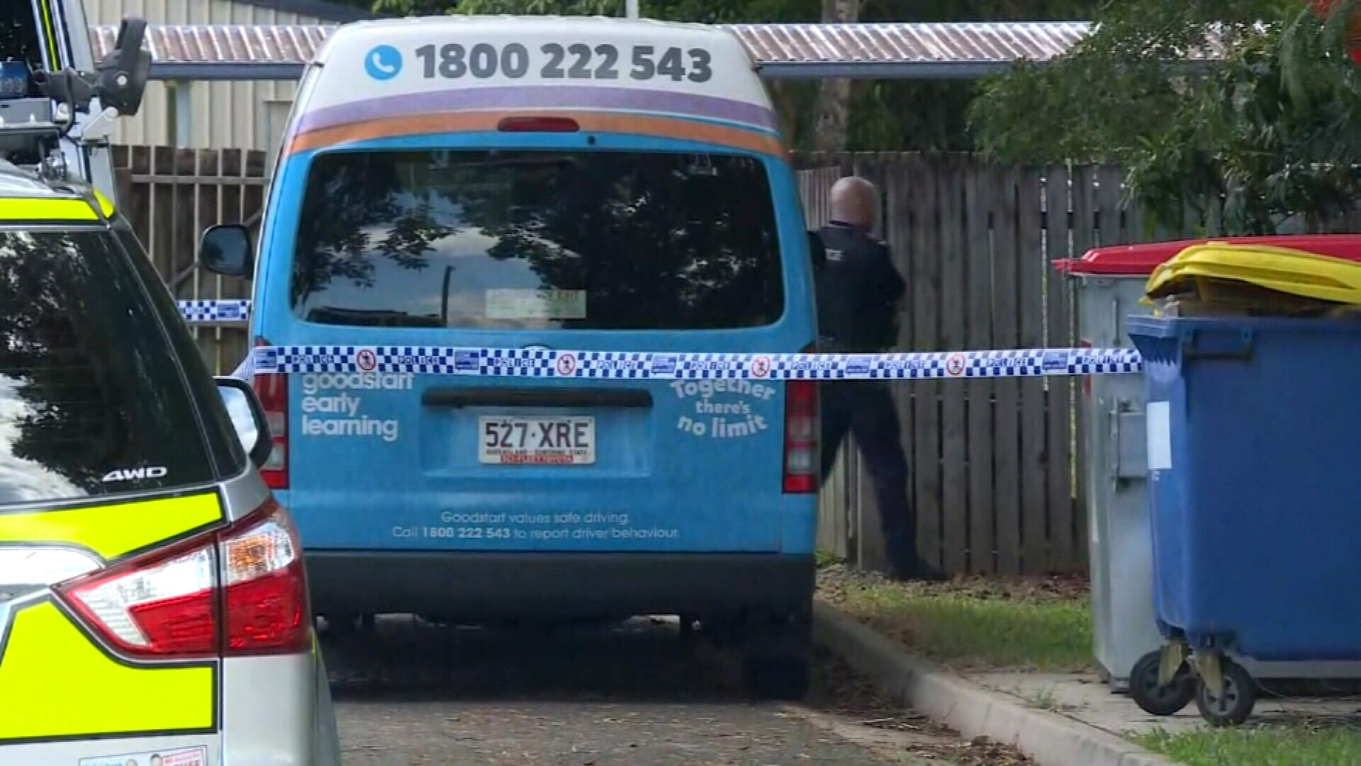 The Cairns boy was found dead in a Goodstart Early Learning bus parked outside a school in Edmonton yesterday, when temperatures soared to 35 degrees.