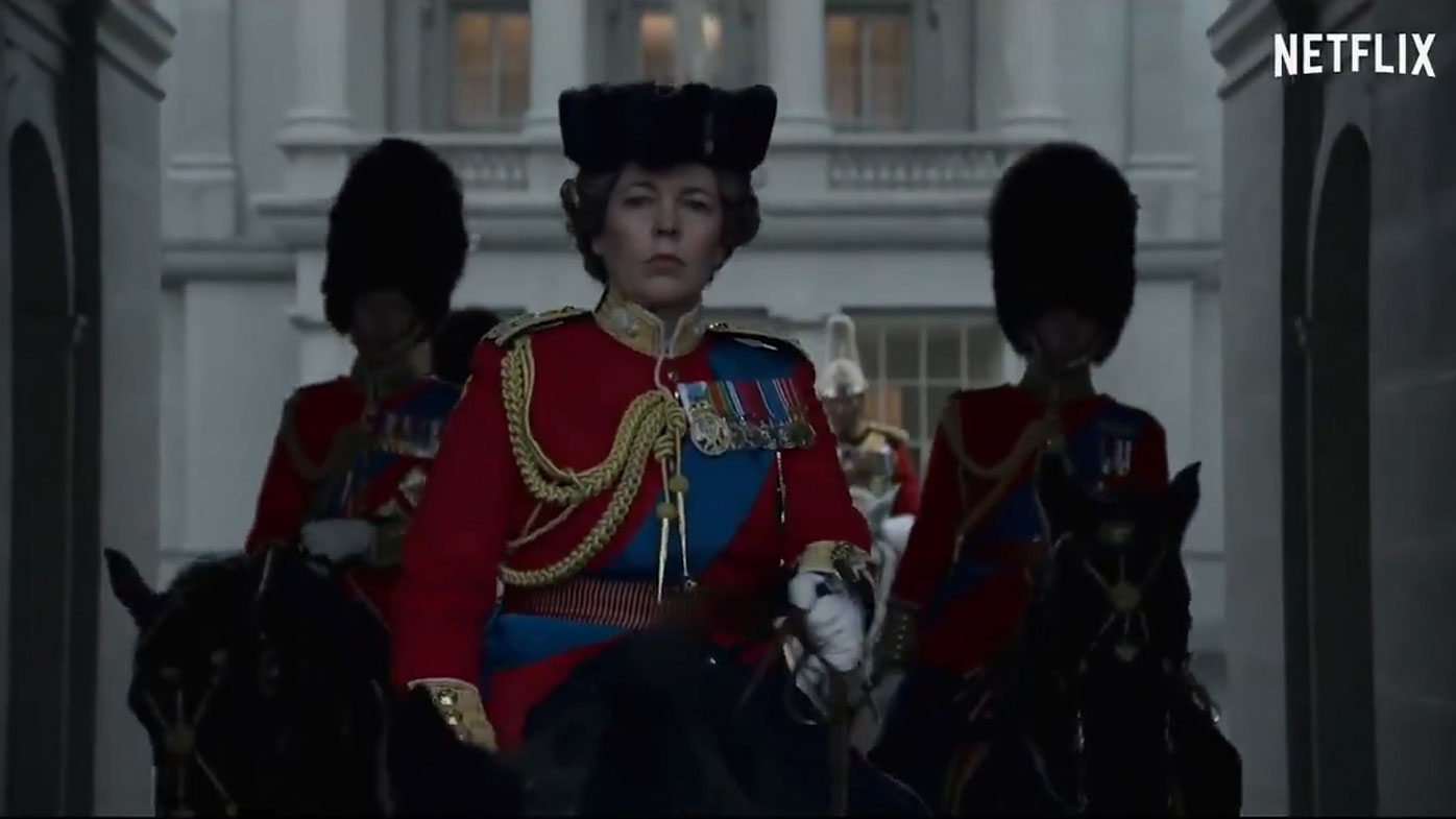 Olivia Coleman as Queen Elizabeth in the Season 4 teaser trailer of The Crown
