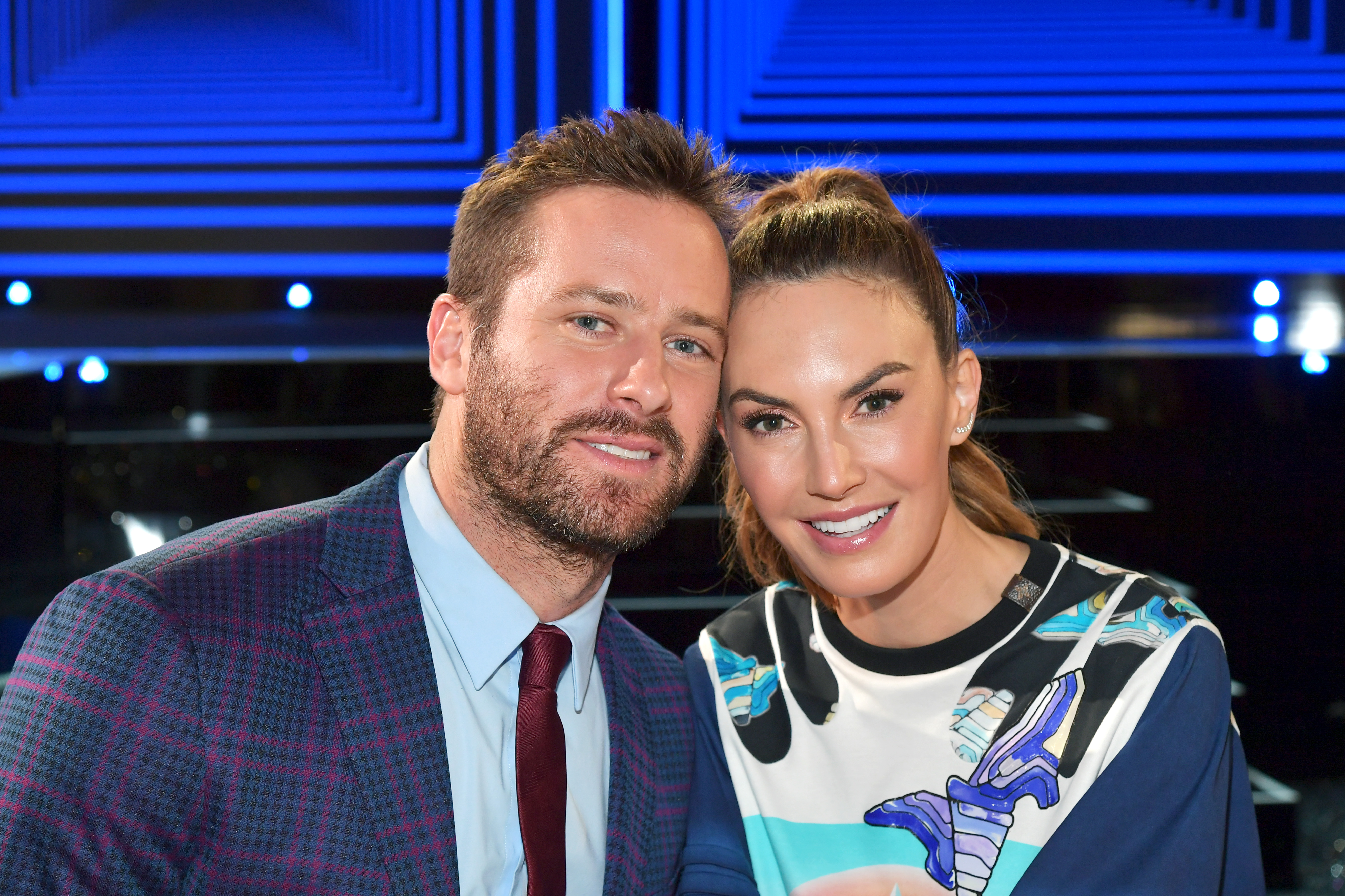 Armie Hammer and Elizabeth Chambers pose during the 2019 Film Independent Spirit Awards on February 23, 2019 in Santa Monica, California. (Photo by Amy Sussman/Getty Images)