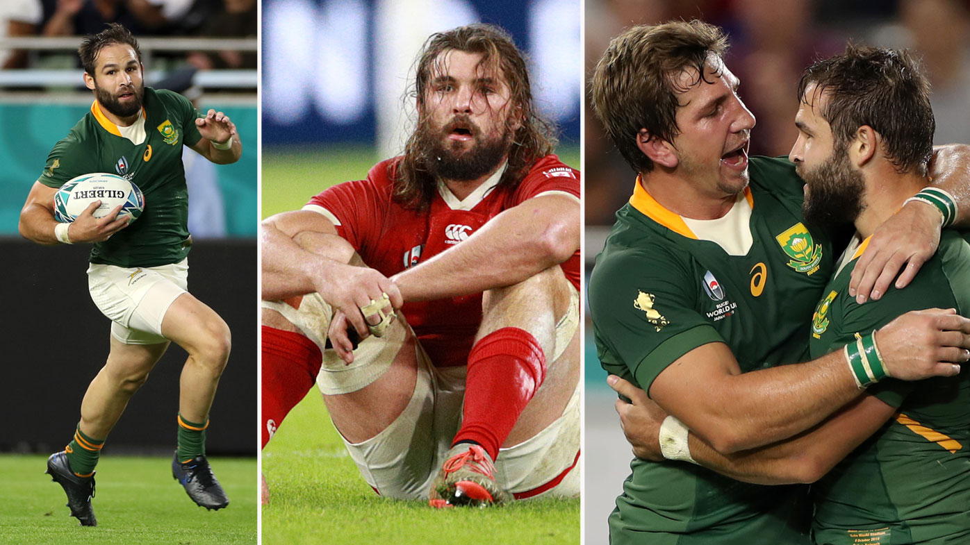 Cobus Reinach of South Africa was in top form for the Springboks in their thrashing of Canada