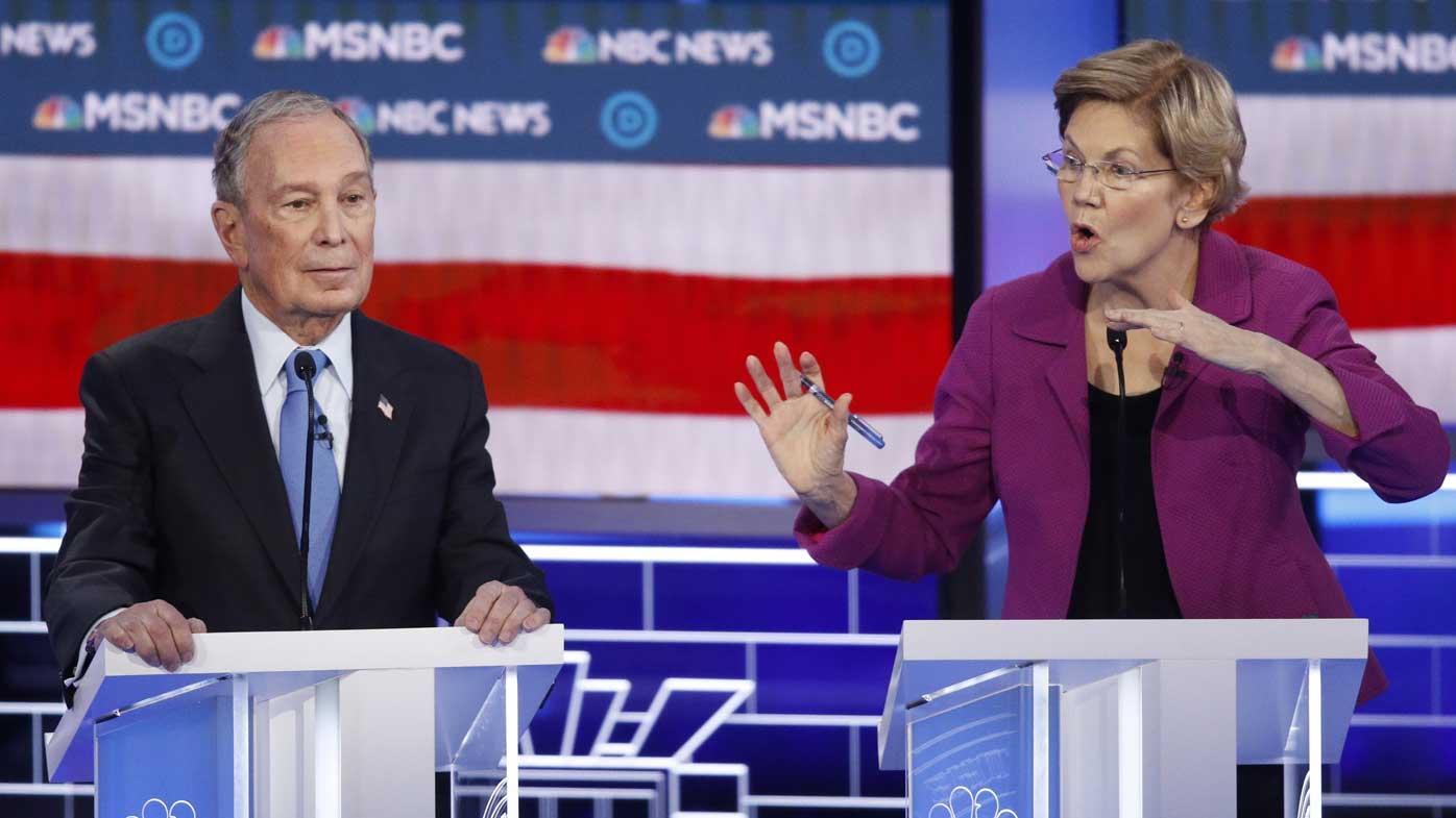 Elizabeth Warren slammed Michael Bloomberg on his sexual harassment lawsuits.