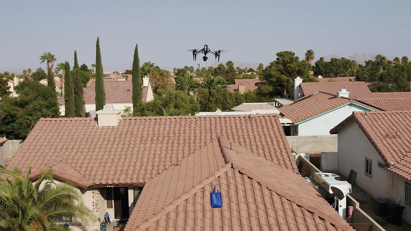 Walmart launched a pilot drone delivery program that will drop off COVID-19 tests to homes within a one-mile radius of the North Las Vegas store.