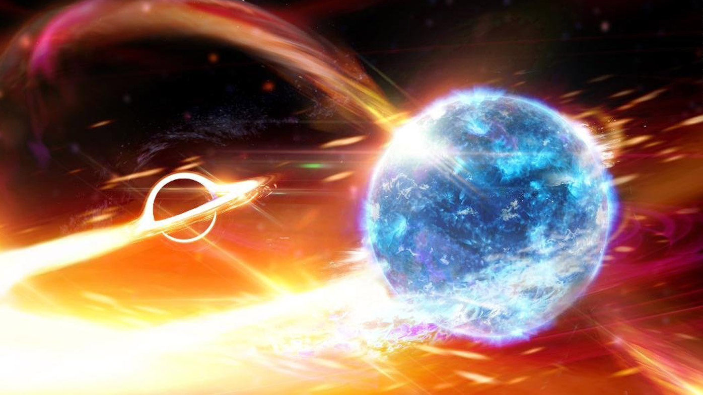 Black hole spotted eating neutron star – millions of years ago