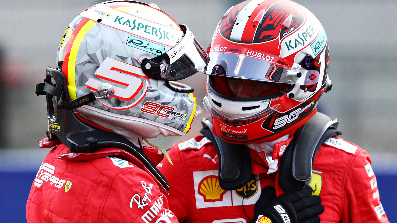 Sebastian Vettel and Charles Leclerc.