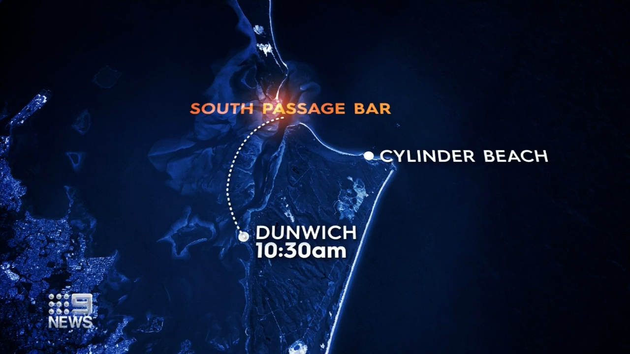 Authorities believe the pair hit trouble in the notoriously dangerous South Passage Bar.