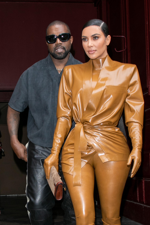 Kim Kardashian, Kanye West, Sunday Service At Theatre Des Bouffes Du Nord, Paris Fashion Week, 2020