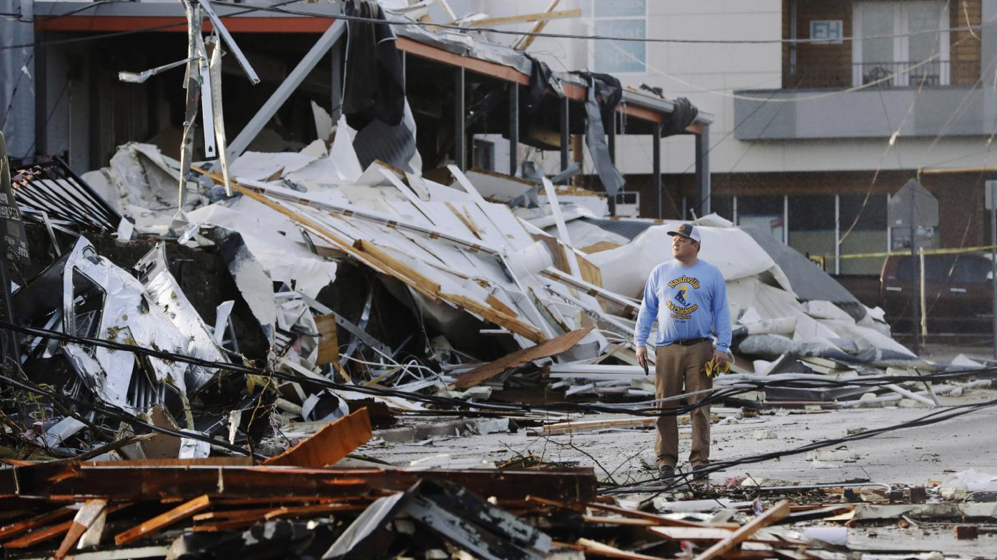 Tornado aftermath in Nashville