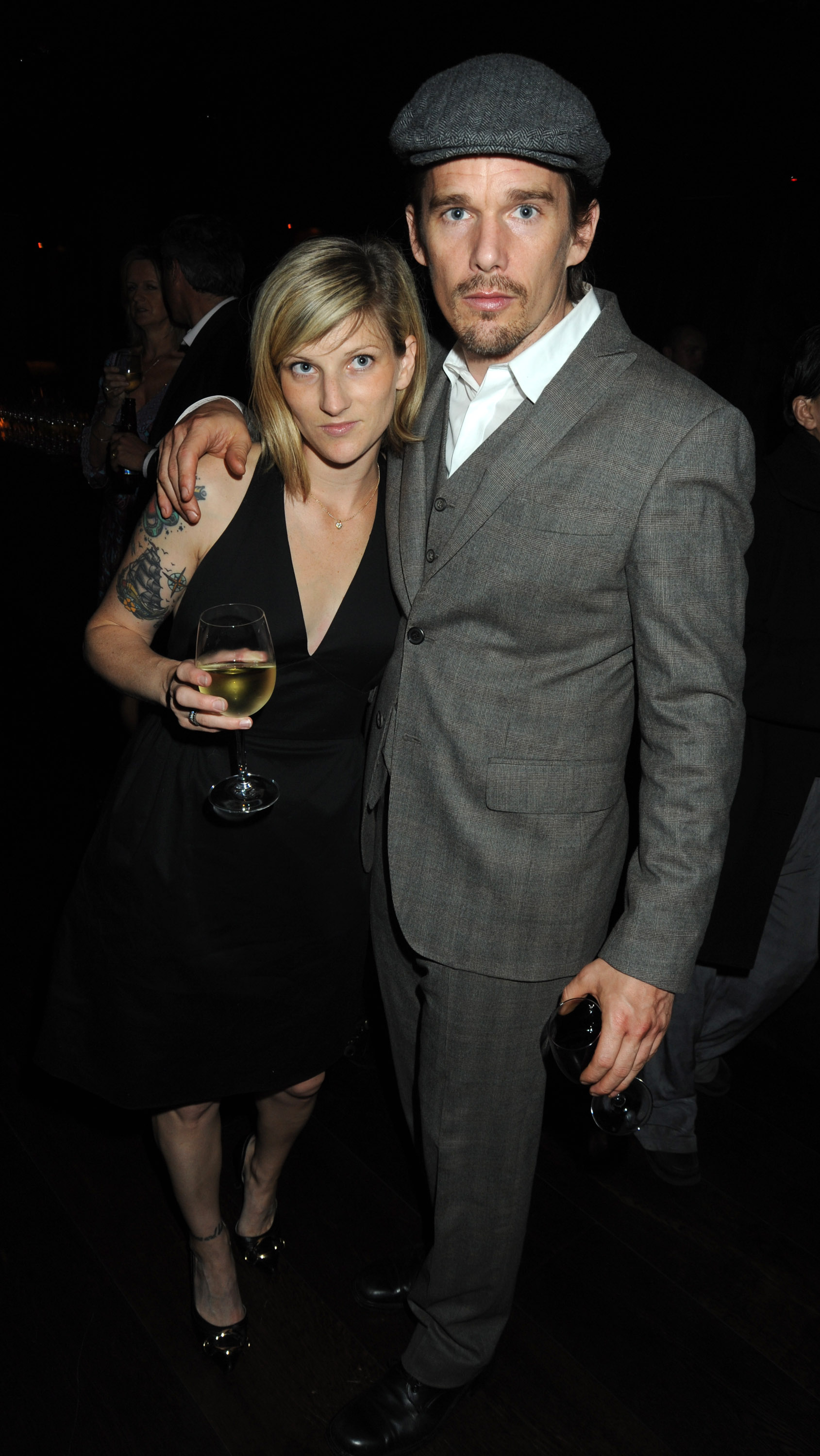 Ethan Hawke and Ryan Shawhughes attend the afterparty following the press night of 'The Cherry Orchard' at The Buddha Bar on June 9, 2009 in London, England.