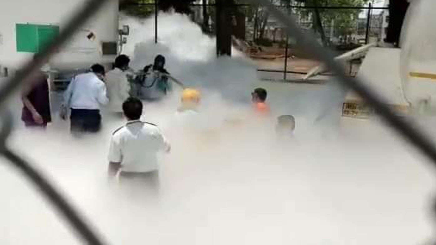 At least 22 dead after oxygen tanker leaks at hospital in India
