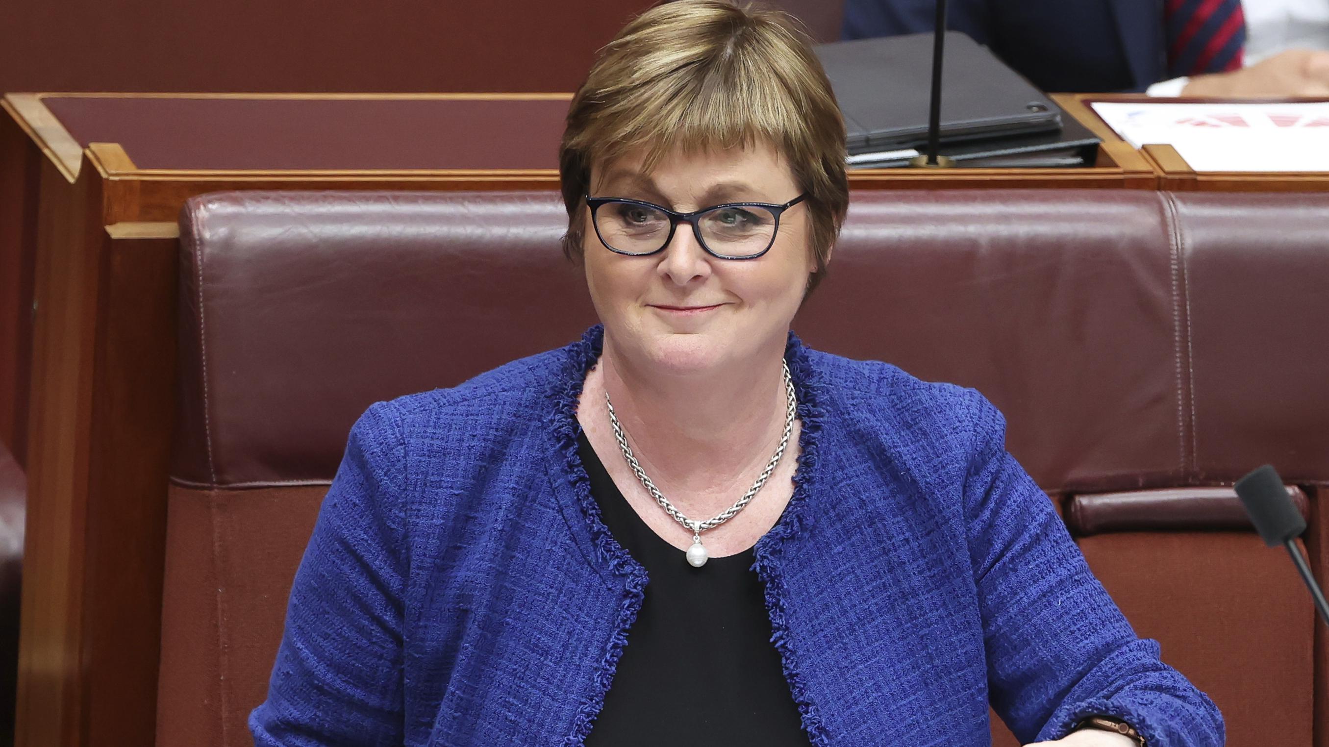 Brittany Higgins reacts after Defence Minister hospitalised