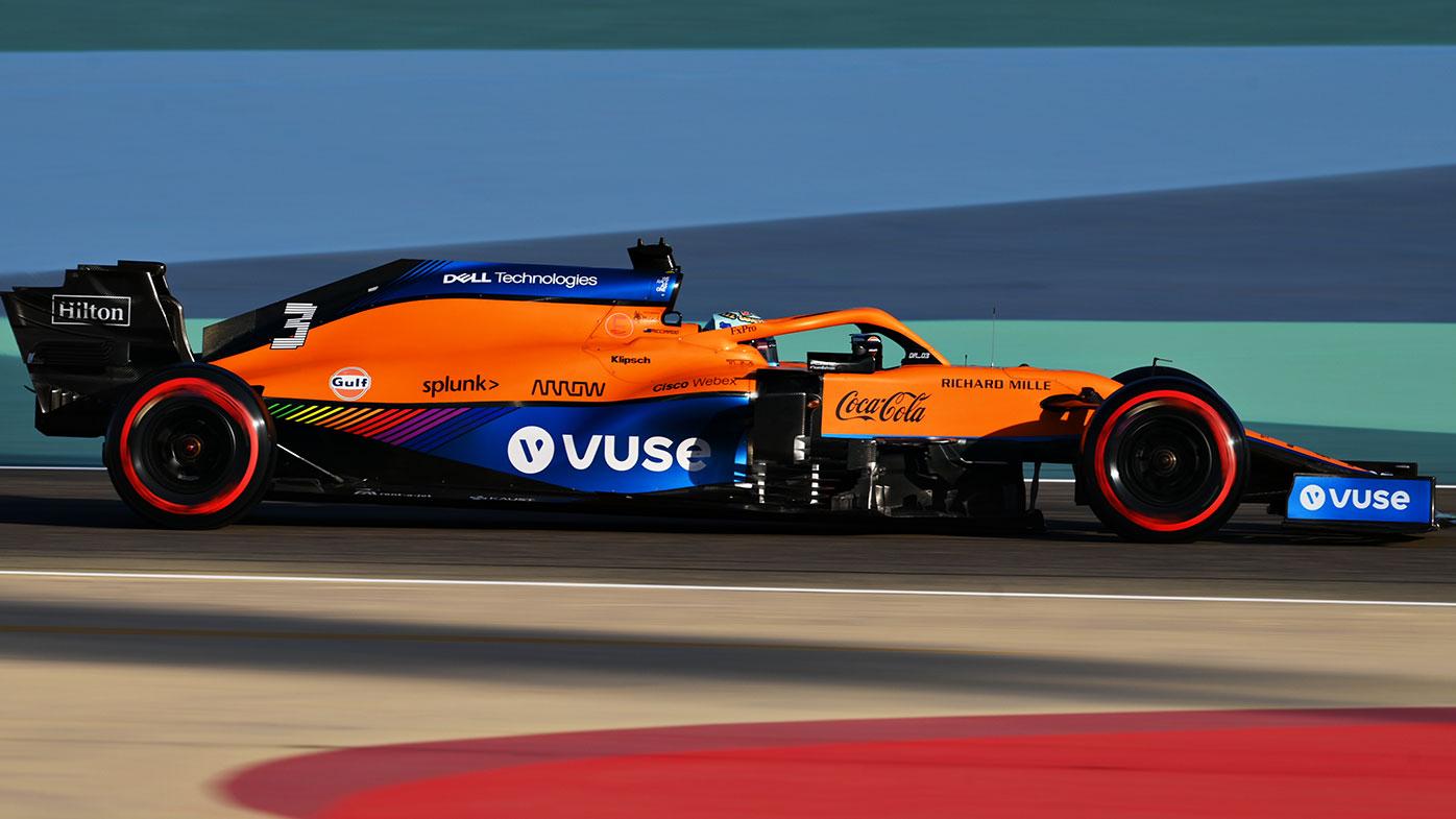 Daniel Ricciardo in action for McLaren at the Bahrain pre-season test.