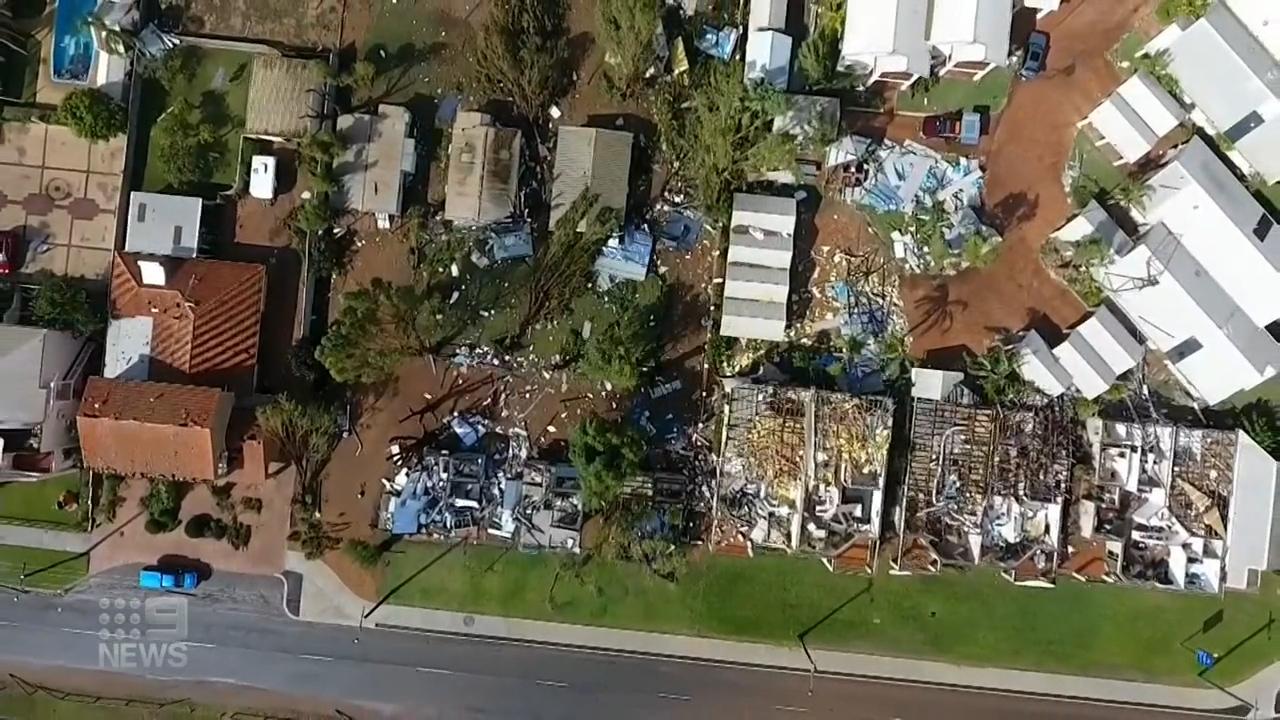 Cyclone Seroja damage in WA town.
