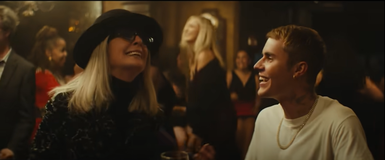 Justin Bieber and Diane Keaton star in the singer's latest music video for 'Ghost'.