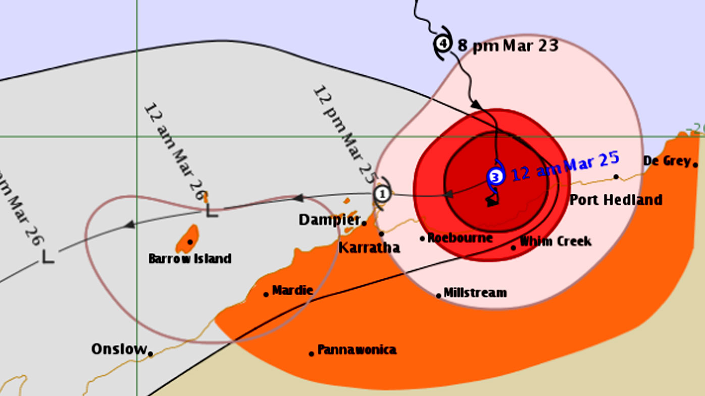 Wild Weather Reporter In Hotel Lockdown As Red Alert Cyclone Veronica Makes Landfall
