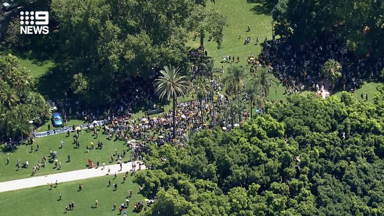 Hundreds of people were at The Domain in Sydney today.