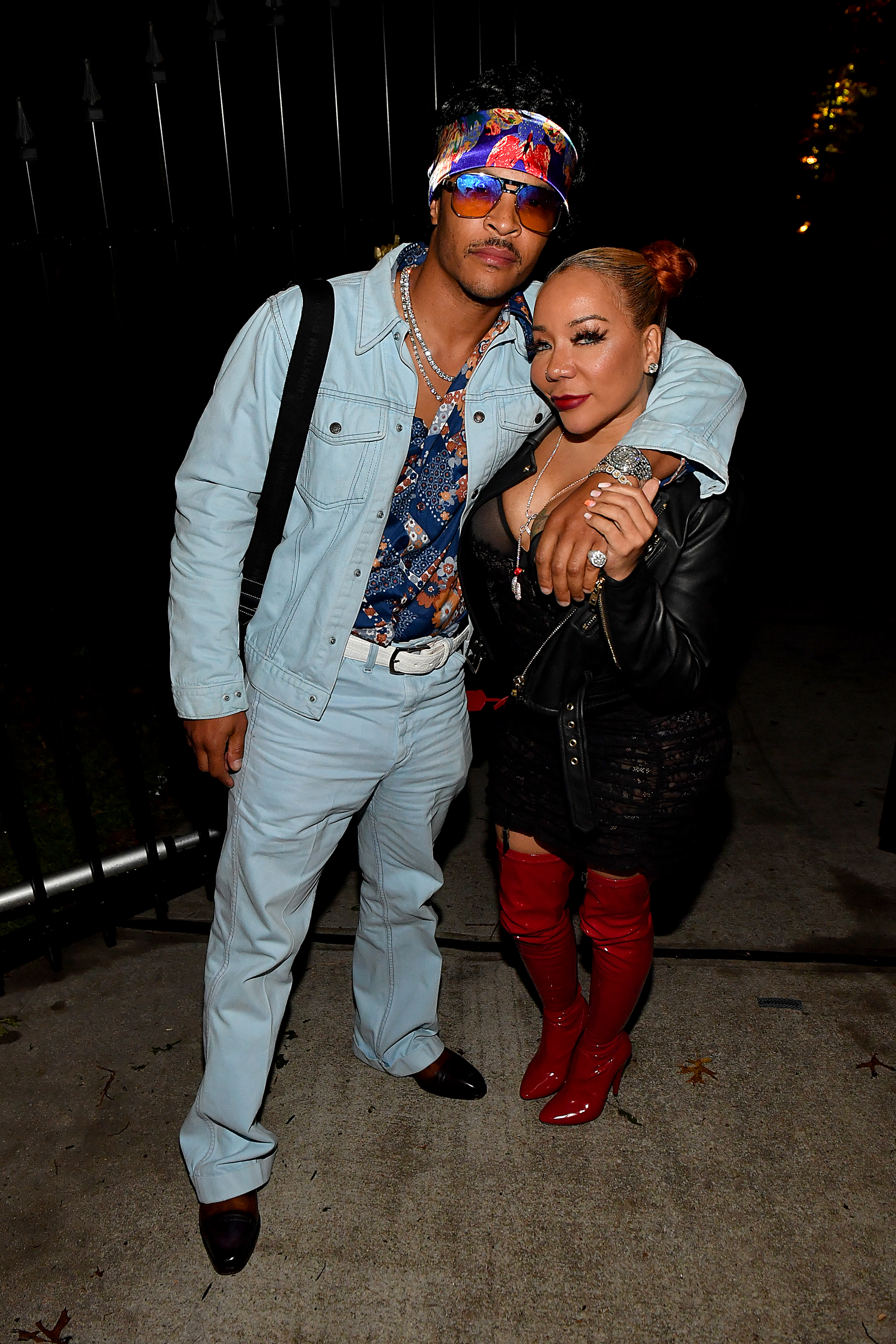 """T.I. and Tameka Dianne """"Tiny"""" Harris attend The Haunting Of Hopewell Hosted By Teyana Taylor, Iman Shumpert, Lori Harvey And Lala Anthony on October 31, 2020 in Atlanta, Georgia."""